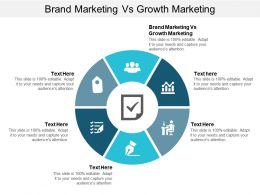 Brand Marketing Vs Growth Marketing Ppt Powerpoint Presentation Icon Example Introduction Cpb