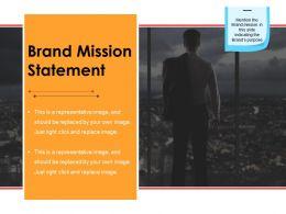Brand Mission Statement Powerpoint Slide Clipart
