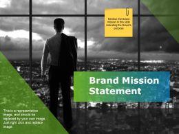 Brand Mission Statement Powerpoint Slide Deck