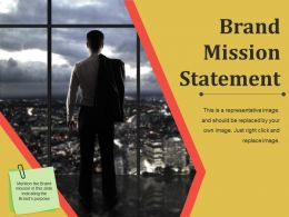 Brand Mission Statement Powerpoint Slide Template
