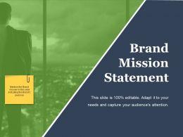 Brand Mission Statement Ppt Background Designs