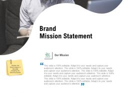 Brand Mission Statement Ppt Powerpoint Presentation Infographics Elements