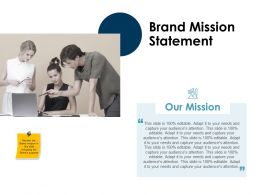 Brand Mission Statement Ppt Powerpoint Presentation Inspiration Slide