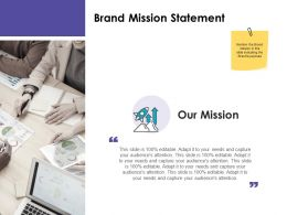 Brand Mission Statement Ppt Powerpoint Presentation Layouts