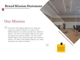 Brand Mission Statement Ppt Powerpoint Presentation Styles Brochure