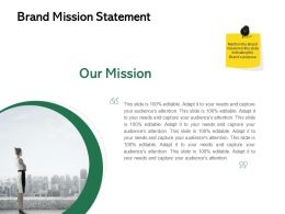Brand Mission Statement Ppt Powerpoint Presentation Visual Aids Diagrams