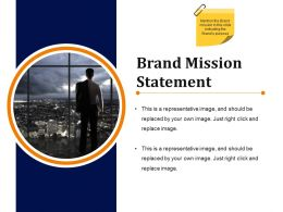 Brand Mission Statement Presentation Diagrams