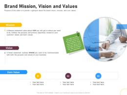 Brand Mission Vision And Values Brand Renovating Ppt Designs
