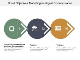 Brand Objectives Marketing Intelligent Communication Ppt Powerpoint Presentation File Design Cpb