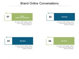Brand Online Conversations Ppt Powerpoint Infographic Template Show Cpb