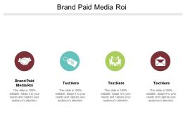 Brand Paid Media ROI Ppt Powerpoint Presentation File Graphics Cpb