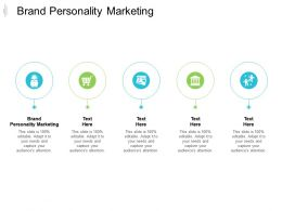 Brand Personality Marketing Ppt Powerpoint Presentation Styles Ideas Cpb