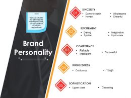 Brand Personality Powerpoint Slide Influencers