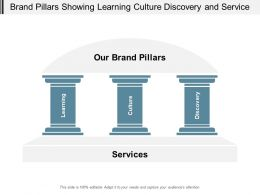 Brand Pillars Showing Learning Culture Discovery And Service
