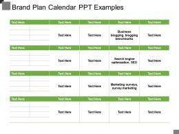 Brand Plan Calendar Ppt Examples
