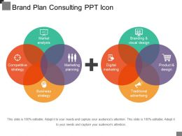 Brand Plan Consulting Ppt Icon