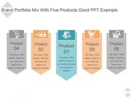 Brand Portfolio Mix With Five Products Good Ppt Example