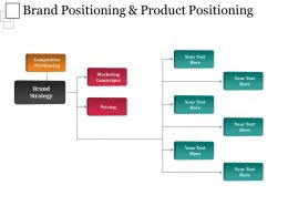 Brand Positioning And Product Positioning Ppt Background