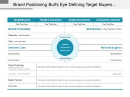 Brand Positioning Bull S Eye Defining Target Buyers