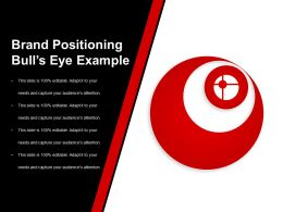 Brand Positioning Bulls Eye Example Ppt Slide