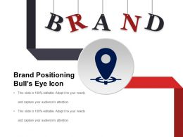 Brand Positioning Bulls Eye Icon Good Ppt Example
