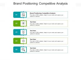 Brand Positioning Competitive Analysis Ppt Powerpoint Presentation Portfolio Outline Cpb