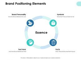 Brand Positioning Elements Essence Ppt Powerpoint Presentation Pictures