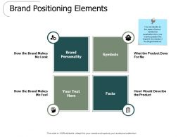 Brand Positioning Elements Ppt Powerpoint Presentation Slides Picture