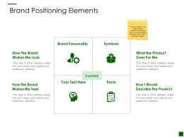 Brand Positioning Elements Product Ppt Powerpoint Presentation Summary Slides