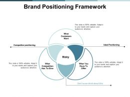Brand Positioning Framework Competitor Ppt Powerpoint Presentation Summary Demonstration