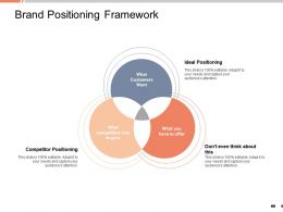 Brand Positioning Framework Ideal Positioning Powerpoint Presentation Introduction