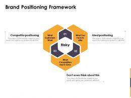 Brand Positioning Framework Ppt Powerpoint Presentation Model Tips