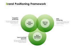 Brand Positioning Framework Ppt Powerpoint Presentation Professional Example Introduction