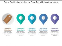 Brand Positioning Implied By Price Tag With Locators Image
