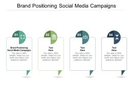 Brand Positioning Social Media Campaigns Ppt Powerpoint Presentation Show Objects Cpb