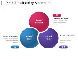 Brand Positioning Statement Powerpoint Show