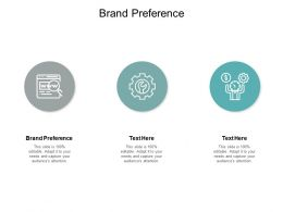Brand Preference Ppt Powerpoint Presentation Pictures Example Topics Cpb
