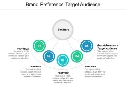 Brand Preference Target Audience Ppt Powerpoint Presentation Styles Design Templates Cpb