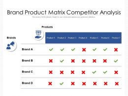 Brand Product Matrix Competitor Analysis