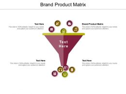 Brand Product Matrix Ppt Powerpoint Presentation Background Image Cpb
