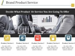 Brand Product Service Powerpoint Topics