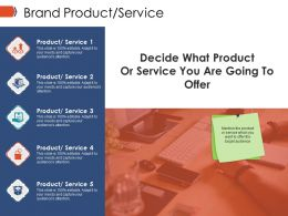 Brand Product Service Ppt Images Gallery