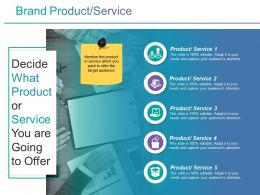 Brand Product Service Ppt Infographic Template