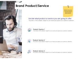 Brand Product Service Ppt Powerpoint Presentation Infographic