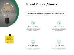 Brand Product Service Ppt Powerpoint Presentation Infographics Professional