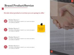 Brand Product Service Ppt Powerpoint Presentation Infographics