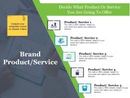 Brand Product Service Ppt Sample Presentations