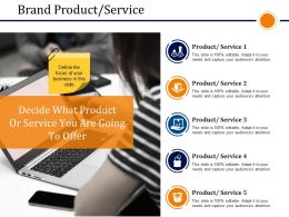 Brand Product Service Presentation Powerpoint Example