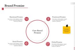 Brand Promise Emotional Ppt Powerpoint Presentation Visual Aids