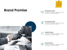 Brand Promise Functional Ppt Powerpoint Presentation Ideas Styles